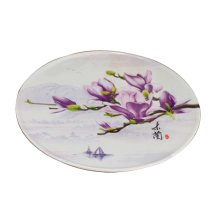 Set of 2 Elegant Pink flower Salver Placemats Fruits Candies Dishes