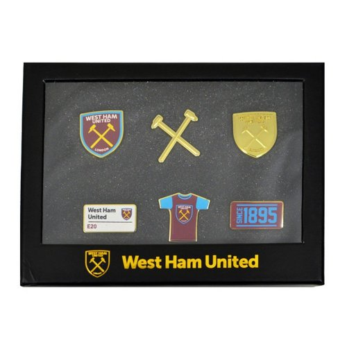 West Ham United FC Official 6 Piece Badge Set