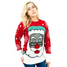 Miss Lulu Women Thicker Christmas Jumper Santa Claus Knitted Sweater