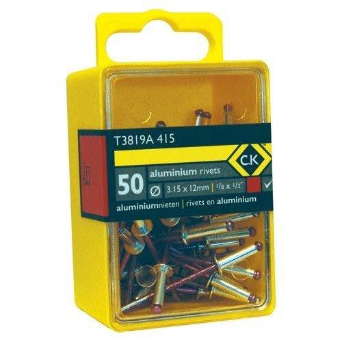CK T3819A 412 Pop Rivets Aluminium 3.15x9mm Box Of 50