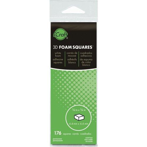"3D Foam Squares-White .25"" 176/Pkg"