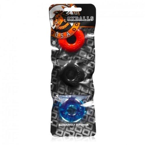 Oxballs Ringer 3 Pack TPR Penis Cock Rings Multi