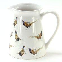 Large Ceramic Jug with Pheasants