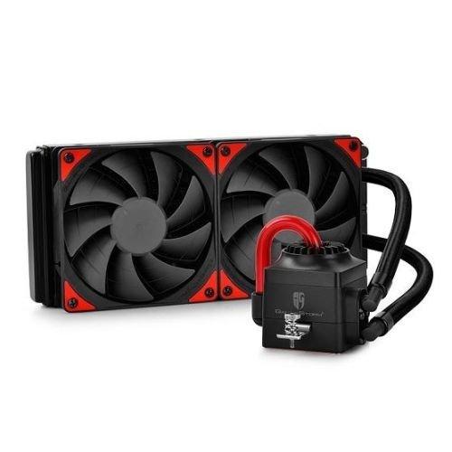 Deepcool GamerStorm Captain 240EX Liquid CPU Cooler, 240mm Radiator, 2 x 12cm Fans, Bionic Red LED