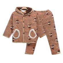 Children Pajamas Warm Thick Cotton Winter Suit Modern Set Sleepwear/Nightwear Clothes for Home, D4