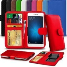 """iTronixs - HTC Desire 10 Lifestyle (5.5"""") High Quality Clamp Style PU Leather Wallet Case Cover"""