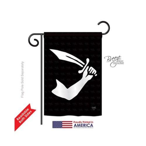 Breeze Decor 57037 Pirate Thomas Tew 2-Sided Impression Garden Flag - 13 x 18.5 in.
