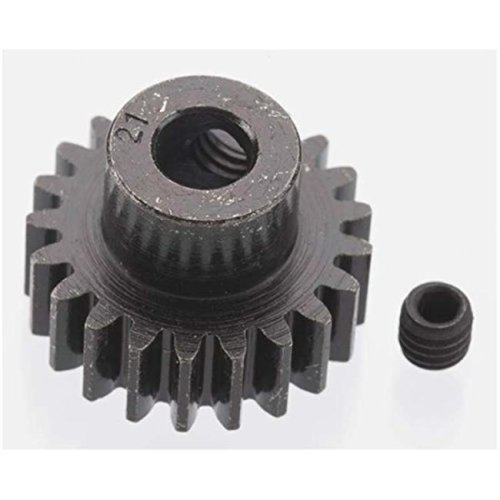 Robinson Racing RRP8621 Extra Hard 21 Tooth Blackened Steel 32 Pitch Pinion - 5 mm