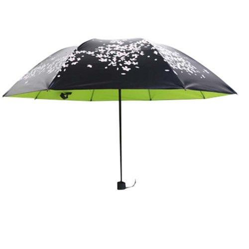Vinyl Sun Umbrella Cherry Clear Umbrella Three Folding Sun Umbrellas