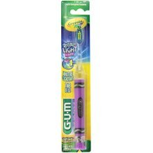 GUM Crayola Timer Light Soft Toothbrush, Assorted Colors