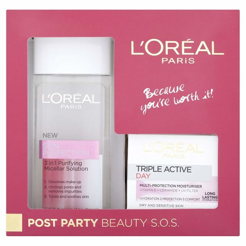 L'Oreal Paris Post Party Beauty S.O.S. Gift Set for Women