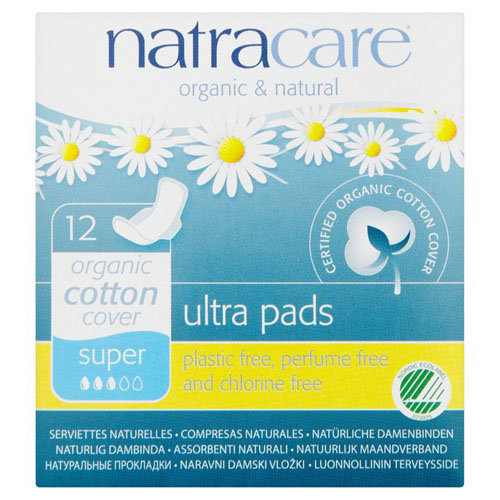 Natracare Natural Ultra Pads Super With Wings | 12s