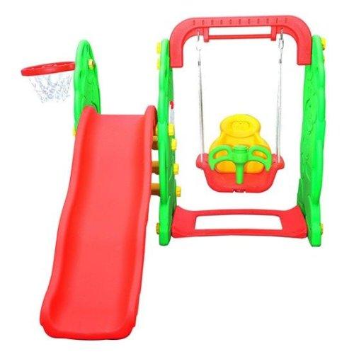 Homcom Kids Garden Playground 3in1 Swing Slide Basketball