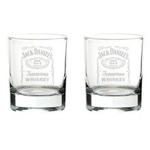 Jack Daniels Old No.7 Brand Glass Tumbler Set