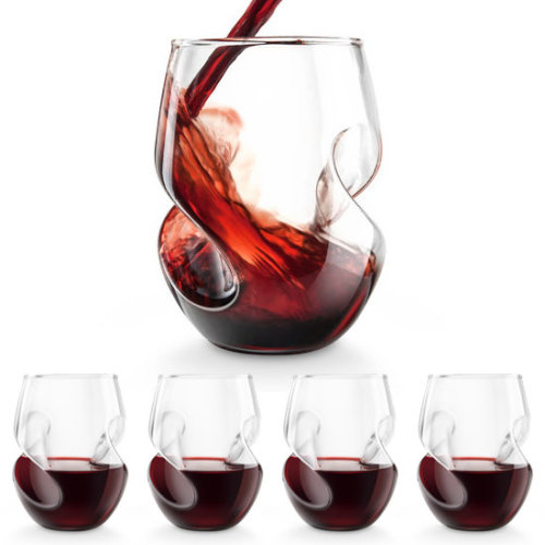Conundrum Aerating Red Wine Glasses - Set of 4