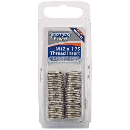 Draper 21711 Expert M12 x 1.75 Metric Thread Insert Refill Pack (6)
