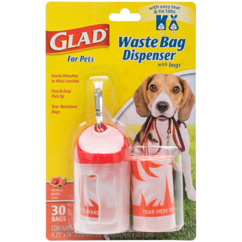 Glad Waste Bag Dispenser With Scented Bags-