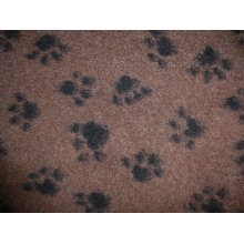 Dog & Co Non Slip Health Mat Half Roll Brown With Black Paws 10m X75cm