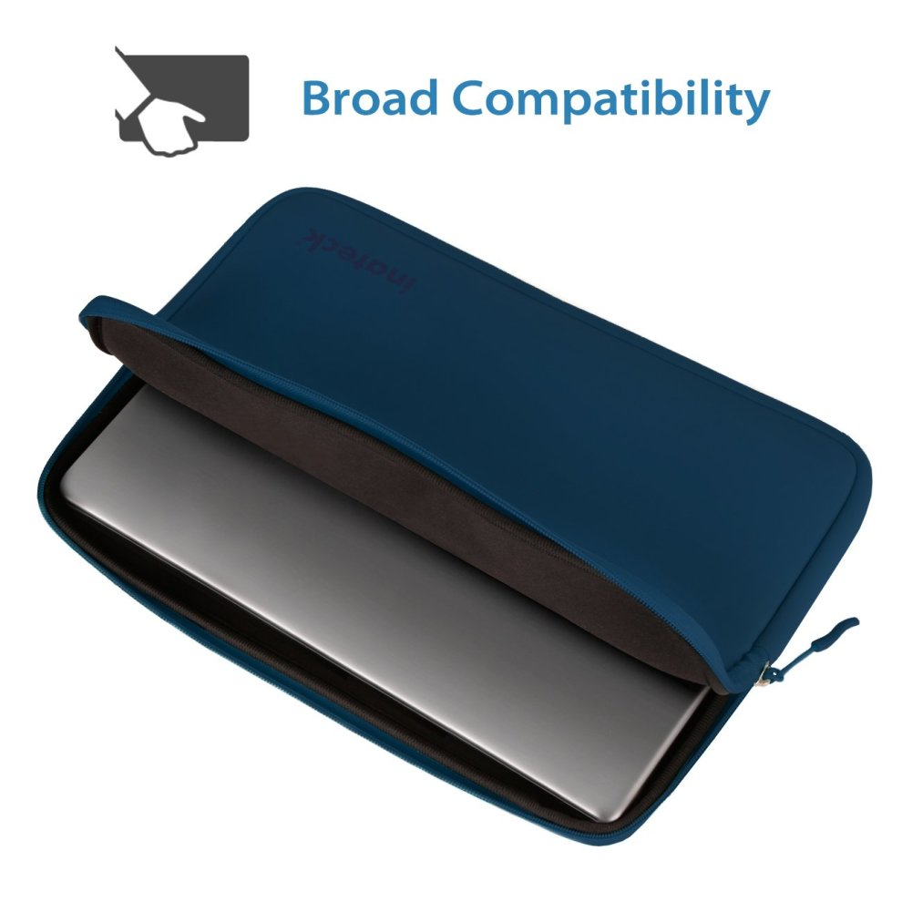 aea53472b1a9 Inateck 14-Inch Water Repellent Neoprene Laptop Sleeve Protective Case -  Blue