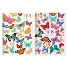Tallon 2018 Pocket Butterfly Silhouettes Small Diary - Week To View -  diary week view pocket glitter 2017 hardback small butterflies diaries