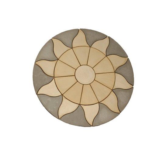 Patio Circle Kit Sun Circle Paving 2.56m  Antique Grey