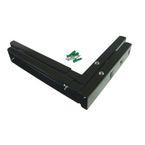Universal Microwave Wall Bracket Extendable Arms Black