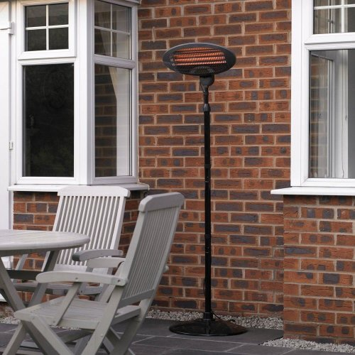 Kingfisher Garden Outdoor 2Kw Quartz Electric Patio Heater Free Standing BBQ New