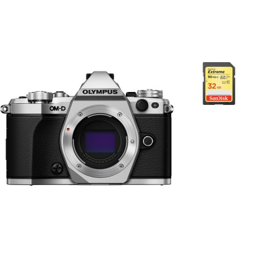 OLYMPUS E-M5 II Body Silver + SanDisk Extreme 32G SD card