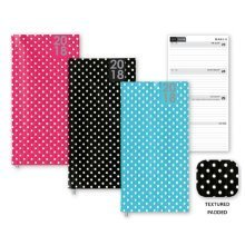2018 Slimline Week to View Pocket Diary Fashion Polka Dot Hardback Black Blue Pink Christmas Birthday Gift WTV W2V