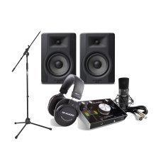 M-Audio M-Track 2x2 Vocal Studio Pack, M-Audio BX5D3 Studio Monitors & Mic Stand