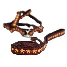 Durable Dog Collar Leash Strap For Puppy Pet,brown