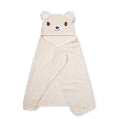 Cartoon Animal Series Soft Baby Hooded Bath Towel, Beige Bear (90*50CM)