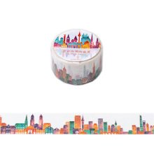 Set of 5 Decorative Paper Tape Washi Masking Tape for DIY and Gift Wrapping 25mmx8m, Colorful World