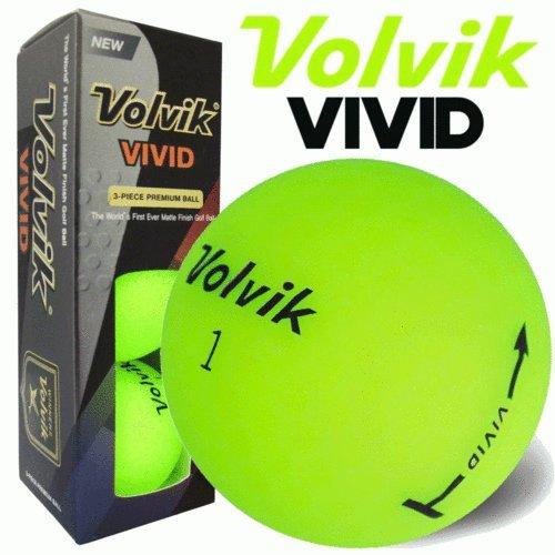 Volvik Vivid Golf Balls Green Sleeve of 3 Balls