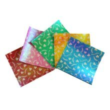 5 Colors Single Sided Origami Papers - 15X15 cm - 50 Pieces