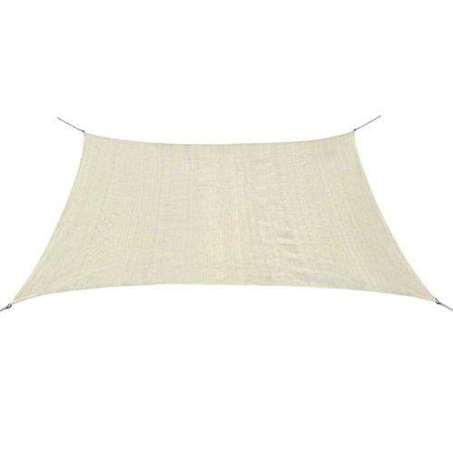 vidaXL Sunshade Sail HDPE Square 3.6x3.6 m Cream