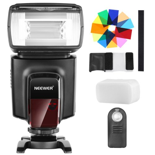 Neewer TT560 Flash Speedlite with 12 Color Filters and IR Wireless Remote Control Kit for Canon Nikon Panasonic Olympus and Other DSLR Cameras,...