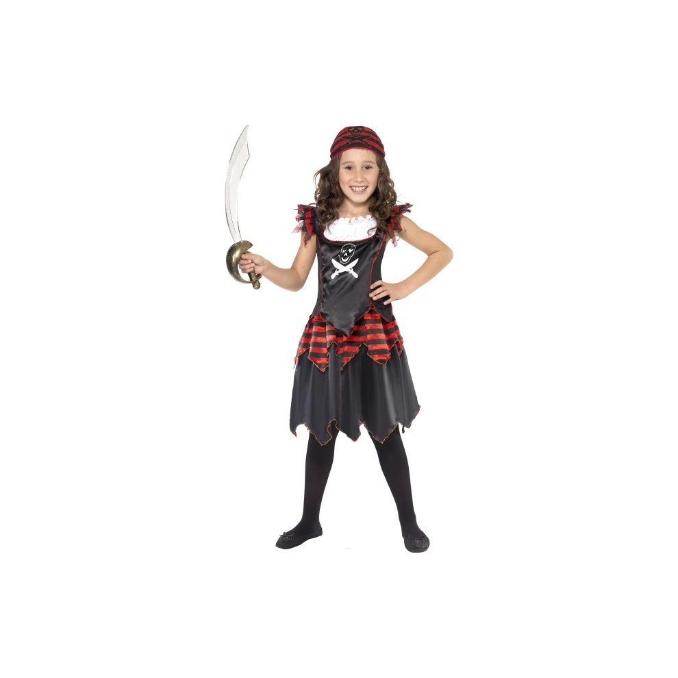 Pirate Girl Costume - pirate costume fancy dress girls gothic kids skull book crossbones day child. u003e  sc 1 st  OnBuy & Pirate Girl Costume - pirate costume fancy dress girls gothic kids ...