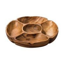 5 Compartment Socorro Serving Dish Acacia Wood