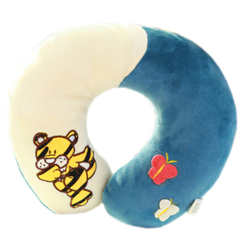 Soft  U Shape Pillow Mixed Colors Neck And Head Support Pillow Tiger Pattern