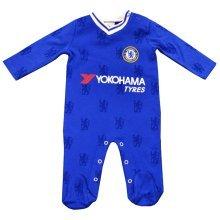 Official Chelsea Fc Baby Kit Sleepsuit/babygrow - 2016/17 Season (9-12m) - -  chelsea sleepsuit fc ln baby football new 201617 babygrow mths 912