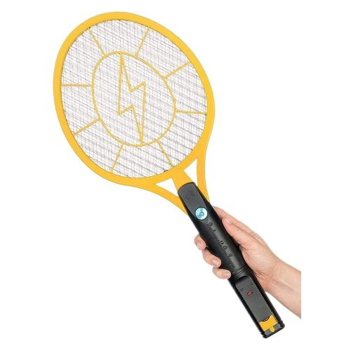Caroki Bug Zapper Rechargeable Mosquito, Fly Killer and Bug Zapper Racket,  4000 Volt Usb Charging, Super-Bright Led Light to Zap in the Dark Unique