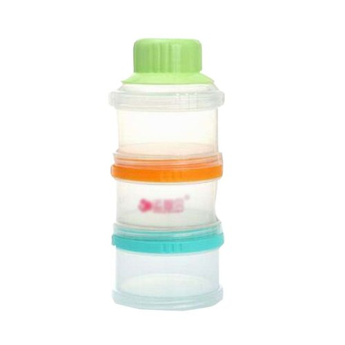 Durable 3 Layers Baby Outdoor Portable Milk Powder Container