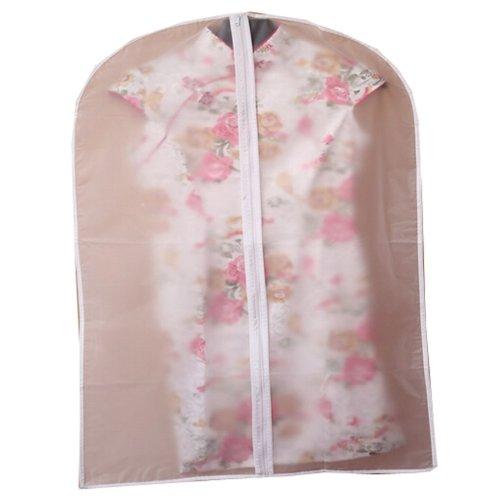 Set of 3 Storage Garment Shoulder Covers Suit Dust Covers Hanging Coat Pockets 60x80CM (S Size)