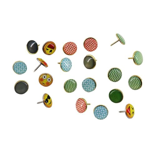 Set of 80 Elegant Creative Metal Push Pins/Drawing pins,80 Pieces, Multicolor