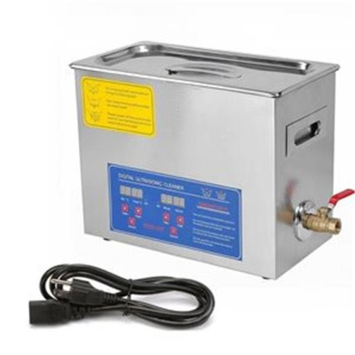 OnlineGymShop CB19811 6.5 lit inless Steel Industry Heated Ultrasonic Cleaner Heater with Timer