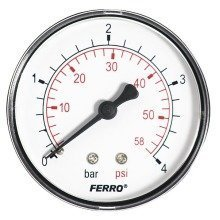 "60mm 4bar 60psi Pressure Gauge Air Oil or Water 1/4"" Bspt Rear Entry Manometer"