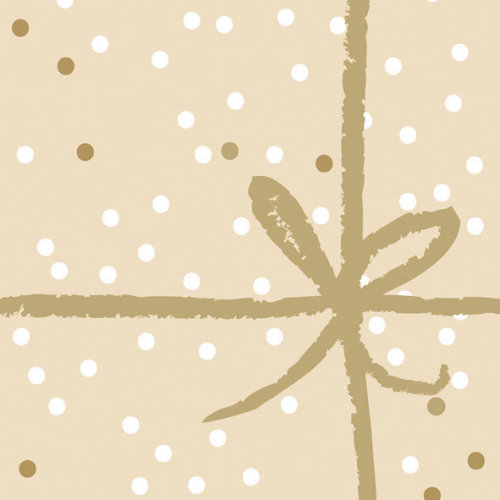 Ambiente 3 Ply Paper Lunch Napkins, Gold Wrapping Design