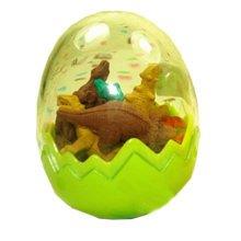Set of 8 Creative Lovely Colourful Mini Dinosaur Erasers, Dinosaur Rubber, Green