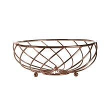 Kuper Fruit Basket, 21 cm - Rose Gold